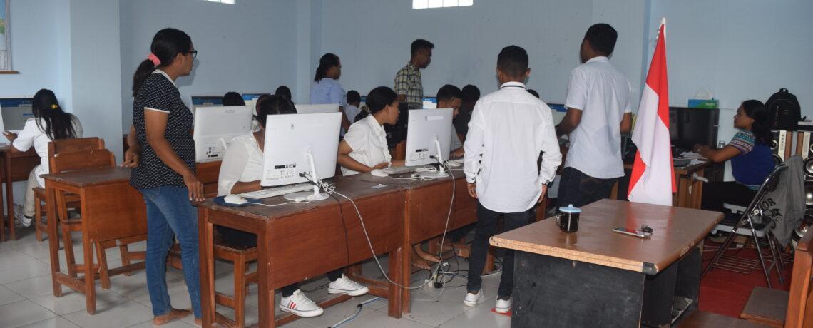 Jelang Asesmen Nasional Berbasis Komputer (ANBK) Tahun 2021, PKBM Harapan Bangsa  Kota Kupang, Siap Ikuti Gladi Bersih Paket B Setara SMP